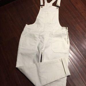 White Overalls. New!